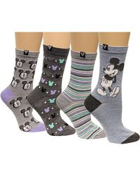 Disney | Women's 4-pk. Assorted Mickey Mouse Crew Socks | Lyst