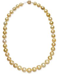 "Macy's - Baroque Golden South Sea Pearl (9mm) Strand 18"" Collar Necklace - Lyst"