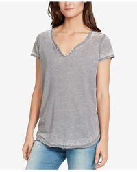 William Rast Cooper Button-trim T-shirt - Gray