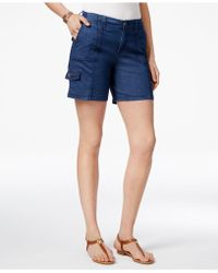 Style & Co. Comfort-waist Cargo Shorts, Created For Macy's - Blue