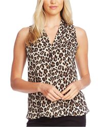 Vince Camuto Inverted-pleat Top, Created For Macy's - Black