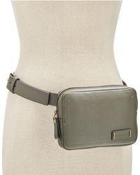 CALVIN KLEIN 205W39NYC - Zip-around Pebble Leather Fanny Pack - Lyst