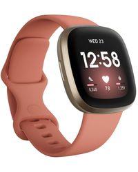 Fitbit Versa 3 Pink Clay Strap Smart Watch 39mm