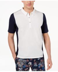 Daniel Hechter - Ash Mix-media Colorblocked Polo - Lyst