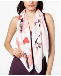 Vince Camuto - Cherry Blossom Square Scarf - Lyst