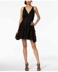 Xscape - Lace Appliqué Fit & Flare Gown - Lyst