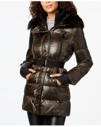 CALVIN KLEIN 205W39NYC - Performance Faux-fur-trimmed Belted Puffer Coat - Lyst