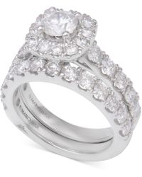 Marchesa - Diamond Bridal Set (3 Ct. T.w.) In 14k White Gold - Lyst