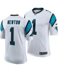 the latest 3851f 639b1 Nike Cam Newton Carolina Panthers Jersey in White/Camo ...