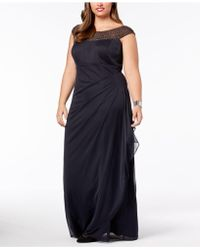 Xscape - Plus Size Embellished Ruched Gown - Lyst