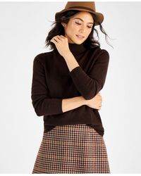 Charter Club Cashmere Turtleneck Sweater, In Regular And Petites, Created For Macys - Brown