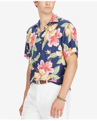 Polo Ralph Lauren - Floral Print Brushed Twill Shirt - Lyst