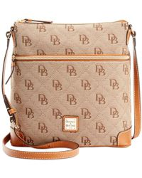 Dooney & Bourke Maxi Quilt Signature Crossbody, Created For Macy's - Natural