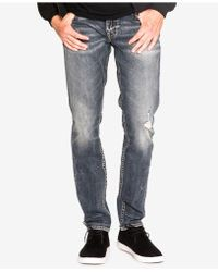 Silver Jeans Co. - Taavi Slim Fit Stretch Destroyed Jeans - Lyst