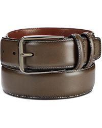 Perry Ellis Old English Leather Belt - Multicolour