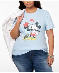 51476115a93 Hybrid - Plus Size Cotton Disney Mickey   Minnie Mouse T-shirt - Lyst