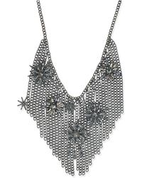INC International Concepts - Hematite-tone Crystal Starburst Fringe Statement Necklace - Lyst