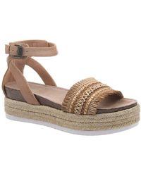 Madeline Girl Sphinx Wedge Sandals - Brown