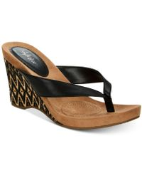 Style & Co. - Chicklet Wedge Thong Sandals, Created For Macy's - Lyst