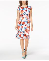 Betsey Johnson - Ruffled-hem Bodycon Dress - Lyst