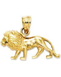 Macy's - 14k Gold Charm, Lion Charm - Lyst