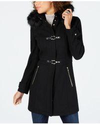 Ivanka Trump - Faux-fur-trim Hooded Toggle Coat - Lyst