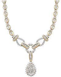 Macy's Diamond Teardrop Necklace In 14k Gold (2-1/2 Ct. T.w.) - Metallic