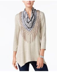 Style & Co. - Removable Scarf Tunic - Lyst