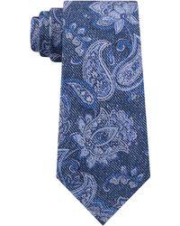 Michael Kors Fine Line Paisley Tie - Blue
