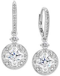 Danori - Silver-tone Crystal Drop Earrings - Lyst