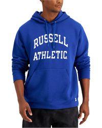 Russell Athletic Archer Logo-print Fleece Hoodie - Blue