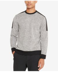 Kenneth Cole Reaction - Men's Colorblocked Textured Sweatshirt - Lyst