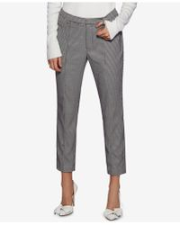 Avec Les Filles - Houndstooth Cropped Pants - Lyst