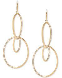 Michael Kors - Pavé Double-loop Drop Earrings - Lyst