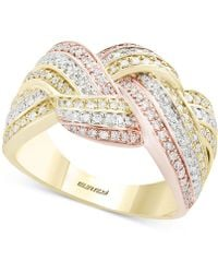 Effy Collection - Diamond Knot Ring (5/8 Ct. T.w.) In 14k Gold, White Gold & Rose Gold - Lyst