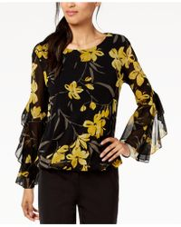 Alfani - Spiral-sleeve Bubble Top, Created For Macy's - Lyst