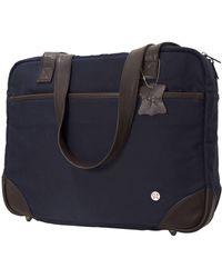 Token Hudson Waxed Shoulder Bag - Blue