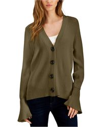 Fever - Bell-sleeve Cardigan - Lyst