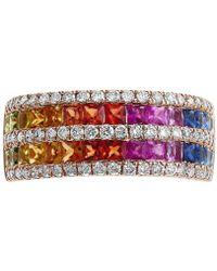 Effy Collection - Effy® Multi-gemstone (1-1/2 Ct. T.w.) & Diamond (1/2 Ct. T.w.) Ring In 14k Rose Gold - Lyst