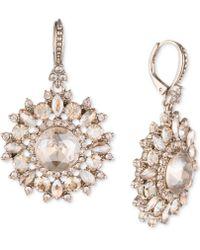 Marchesa - Gold-tone Crystal Drop Earrings - Lyst