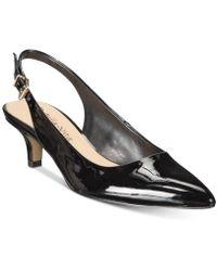 Bella Vita Scarlett Ii Kitten-heel Slingback Pumps - Black