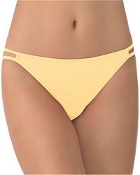 Vanity Fair Illumination String Bikini Underwear 18108 - Yellow