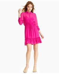 Bar Iii Semi-sheer Blouson Dress, Created For Macy's - Pink