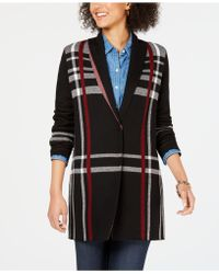 Charter Club - Plus Size Plaid Cardigan, Created For Macy's - Lyst
