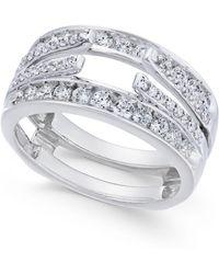 Macy's - Diamond Enhancer Ring Guard (1 Ct. T.w.) In 14k White Gold - Lyst