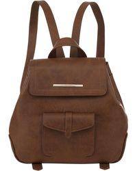 Kensie Boho Lightweight Rucksack Backpack - Brown