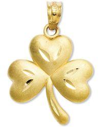 Macy's - 14k Gold Charm, Shamrock Charm - Lyst