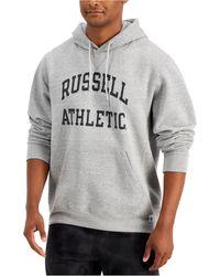 Russell Athletic Archer Logo-print Fleece Hoodie - Grey