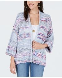 Style & Co. - Mixed-stitch Open-front Cardigan, Created For Macy's - Lyst