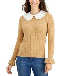 Charter Club Removable Collar Knit Sweater, Created For Macy's - Multicolour